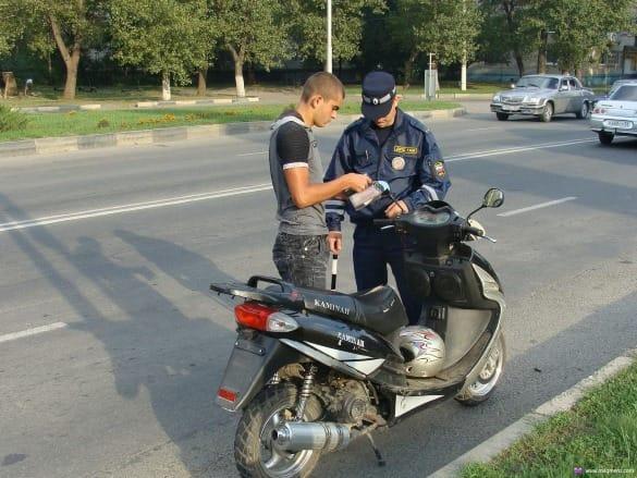 Предъявление прав на скутер